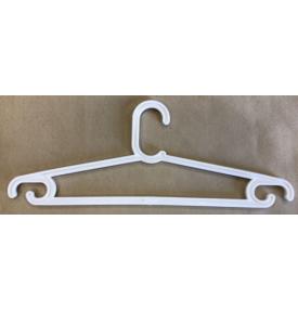 Вешалка-плечики подростковая плоская  В-401 white