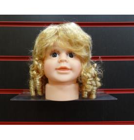 Манекен детской головы девочка с имитацией волос