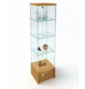 Витрина стеклянная с подиумом ВК-450П