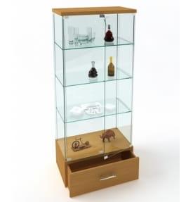 Витрина стеклянная с ящиком ВК-700Н