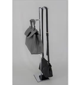 Стойка под сумки с 2-мя крючками из квадратной трубы SPQ-2