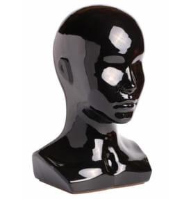 Голова женская черная глянцевая Г-401(черная)