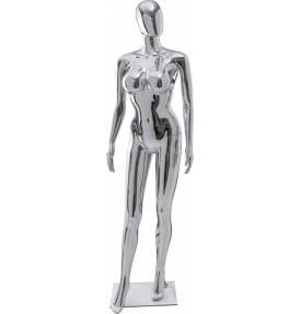Манекен женский стилизованный golden/silver gloss  FE-25