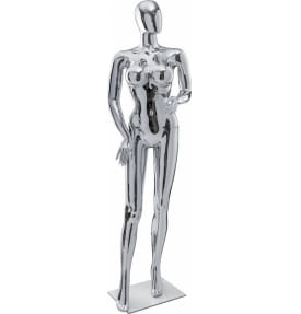 Манекен женский стилизованный golden/silver gloss FE-26
