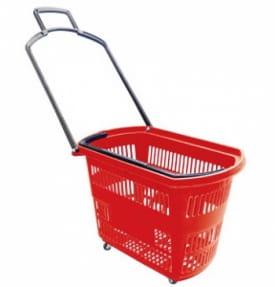 Корзина-тележка пластиковая 32 литра