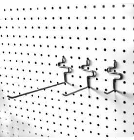 Крючок одинарный d=4мм для перфорированной панели с шагом перфорации 25мм, L-100мм EKP590