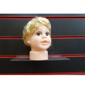 Манекен детской головы мальчик с имитацией волос