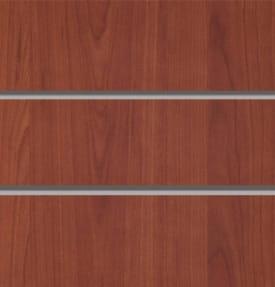 Экономпанель вертикальная толстая 2400*1200 мм (Вишня) ЭП-101А